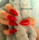 FALSE NAILS - Bright Red - Stick On - The Holy Nail