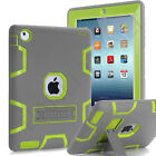 High Impact Kickstand Shockproof Hard Rubber Case Cover For iPad mini Air Pro