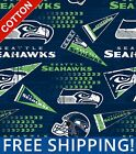 "Seattle Seahawks Retro NFL Cotton Fabric - 60"" Wide - Style# 14449 Free Shipping $15.95 USD on eBay"