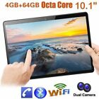 """10.1""""tablet Pc 4/64g Android 6.0 Octa-core Dual Sim &camera Phone Phablet Lot Gh"""
