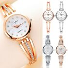 Fashion Ladies Women's Stainless Steel Rhinestone Quartz Analog Wrist Watch New image