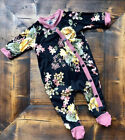 Newborn Infant Baby Girls Autumn Clothes Floral Romper Bodysuit+Headband Outfits