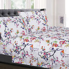 Botanical Pastel Floral Pattern 4-Piece 1500 Supreme Collection Sheet Set image