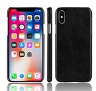 Case Hard PC Leather Phone Case For iPhone