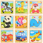 Development Baby Toys 3D Wooden Puzzle Cartoon Learning Educational Kids Toy
