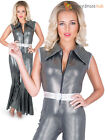 Ladies 70s Disco Diva Jumpsuit Flares Dancing Queen Costume Fancy Dress Womens