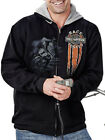 Harley-Davidson Mens Race Tested Full Zip Black Hoodie Jacket Sweatshirt