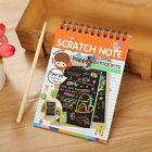 Kids Educate-1 Book Scratch Scraping Magic Painting Paper Art Drawing Stick Toys