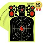 30/50/100 Shooting Targets Reactive Splatter Range Paper Target Gun Shoot Rifle