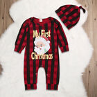 Kyпить Newborn Baby Girl Boy Christmas Costume Santa Claus Romper +Hat Clothes Outfits на еВаy.соm