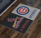St Louis Cardinals Chicago Cubs House Divided Man Cave Decor Custom Doormat on Ebay