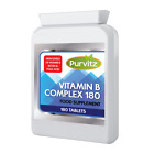Vitamin B Complex 180 Tablets B1,B2,B3,B5,B6,B12,Biotin,Folic Acid Helps Fatigue $7.11 USD on eBay