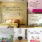 SWEET DREAMS Home Wall Stickers Art Mural Quote Bedroom Removable Room Decor DIY