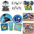 Fortnite Party Supplies ~ Cups Plates Napkins Balloons Cupcake Toppers Favors