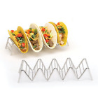 Taco Holder Stainless Steel Taco Stand Mexican Food Rack Shells 1-4 Slots USA