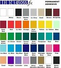 """12"""" x 5 ft roll - DuraGloss Pro 651 Vinyl - Outdoor Adhesive - Pick Color"""