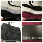 NIP Harve Benard 3 Pack Ribbed Crew Socks~Shoe Size 4-8~Black Gray Maroon Cream