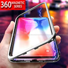 For Huawei Mate 20 Pro Magnetic Absorption Metal Bumper Glass Case Cover
