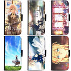 PIN-1 Anime Violet Evergarden Phone Wallet Flip Case Cover for Samsung