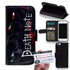 PIN-1 Anime Death Note Phone Wallet Flip Case Cover for Samsung