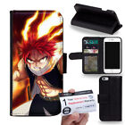 PIN-1 Anime Fairy Tail Phone Wallet Flip Case Cover for Samsung