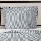 Farmhouse Bedding Miller Farm Ticking Stripe Euro Sham Cotton Striped image