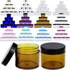 12 Pack 2oz High Quality Thick Acrylic Plastic Jar Sample Containers BPA FREE