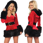 Women Sexy Christmas Costume Santa Outfits Xmas Fancy Dress Cosplay Long Sleeve