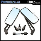 Pair Black Motorcycle Rearview Mirror Universal for Harley-Davidson Bike Benelli $17.19 USD on eBay