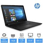 "HP 15-bs507na 15.6"" Windows 10 Laptop, Intel Pentium Quad Core, 4GB RAM, 1TB HDD"