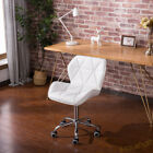 5 Legged Wheel Office Chair Lift Swivel Computer Desk Adjustable PU Faux Leather