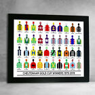 Horse Racing Cheltenham Gold Cup Winners 91-18 Racing Colours Framed Print