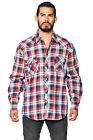 LW Men's Classic Plaid Checkered Western Rodeo Pearl Snap Button Up Dress Shirt