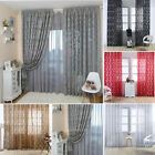 Self-indulgence Jacquard Curtain Sheer Window Curtains for Bedroom Living Room 100x270cm