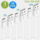10Pcs x 3Pack Micro USB Fast Charger Data Sync Cable Cord for Samsung Android LG