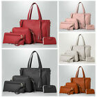 4pcs Women Ladies Leather Shoulder Tote Purse Satchel Messenger Handbag  Kit