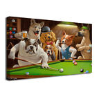 Canvas Print Dogs Playing Pool Billiards Oil Painting on Canvas Art Decor Poster $51.31 CAD on eBay