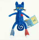 """Merrymakers Pitt cat Pete the cat Soft doll Plush toy Blue cat toy Gift 14"""""""