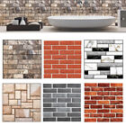 3d Brick Tile Sticker Self-adhesive Wall Panel Decals Home Kitchen Room Decor