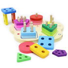 Wooden Toddler Toys for Boys & Girls Age 2 Years and Up, Educational Shape Color