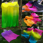 Clearance sale 1 pair 15m 18m hemmed light belly dance silk fan veil+bag