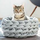 Cute Washable Material DIY Pet Nest Hand Woven Dog Cat Bed House WT88 01