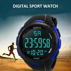 Men's Digital Sports Watch LED Screen Large Face Military practical Watches UK