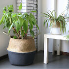 Woven Storage Wicker Basket Bag Home Decor Seagrass Belly Baskets Flower Laundry