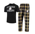 NFL Pittsburgh Steelers Men's Concepts Sport Duo Pajama Set-Black/Yellow