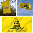 3x 3x5 Don't Tread On Me Gadsden Polyester Tea Party Snake Yellow Flag Banner fm for sale  Shipping to Canada