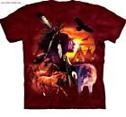 Chief Native American T-Shirt / Tie Dye,Wolves,Horses,Eagle,Warrior,Wild Horses