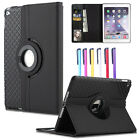 For iPad 2 3 4 Mini 1 2 3 4 Smart Rotating Kickstand Leather Wallet Case Cover