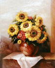 Art wall Home Decor Modern Sunflower Floral oil painting Printed on Canvas Gift