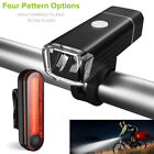 Bike Bicycle Lights USB LED Rechargeable Mountain Cycle Front Back Headlight ON
